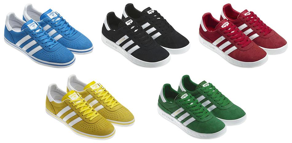 Olympijské kruhy z topánok Adidas