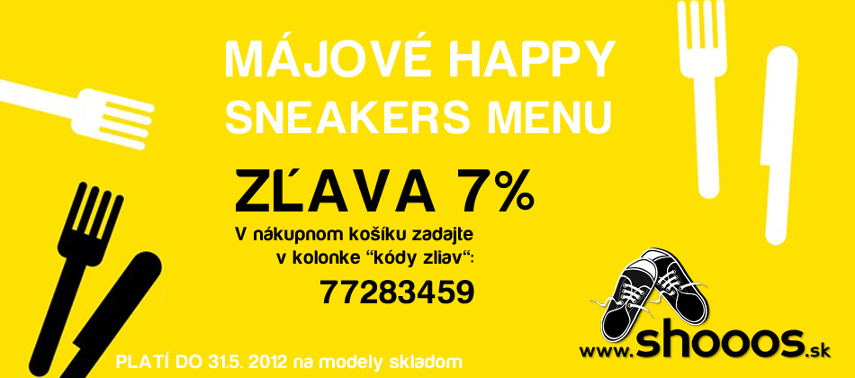 májové sneakers menu