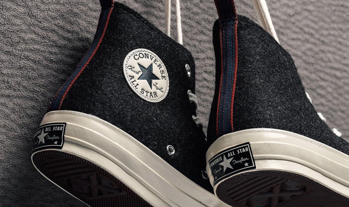Logo na zadnej časti tenisiek Converse All Star 70