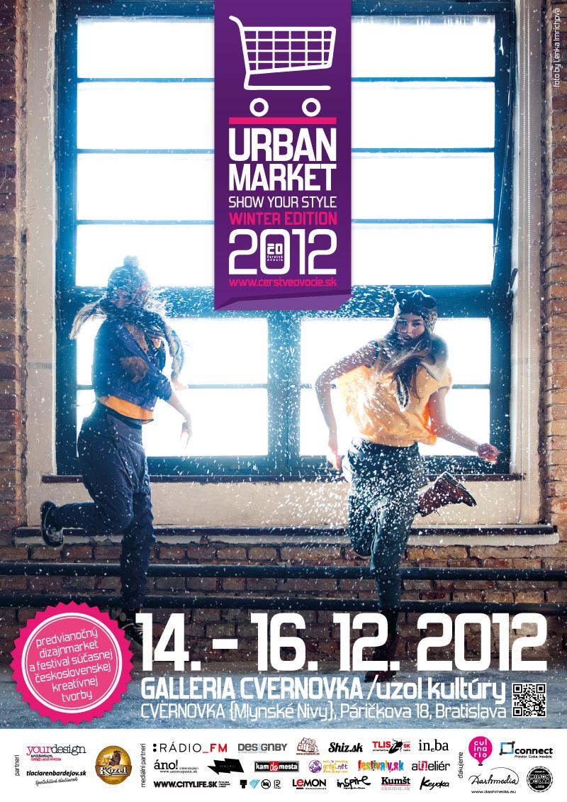 Plagát zimného urban marketu