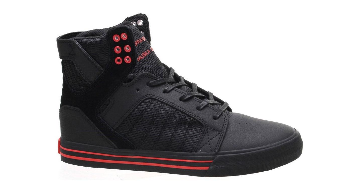 Supra Skytop Black/Risk Red čierne 08174-053-M - vyskúšajte osobne v obchode