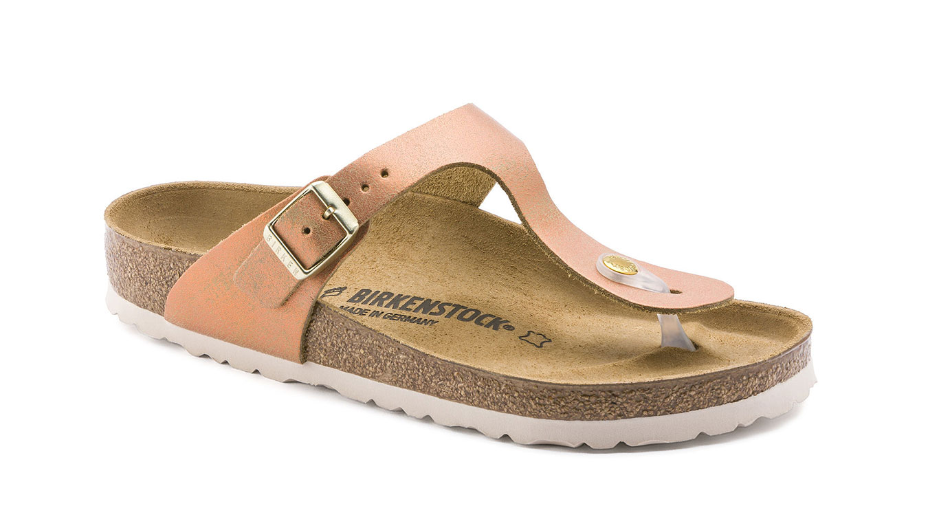 Birkenstock Gizeh VL Washed Metallic Sea Copper svetlohnedé 1012909
