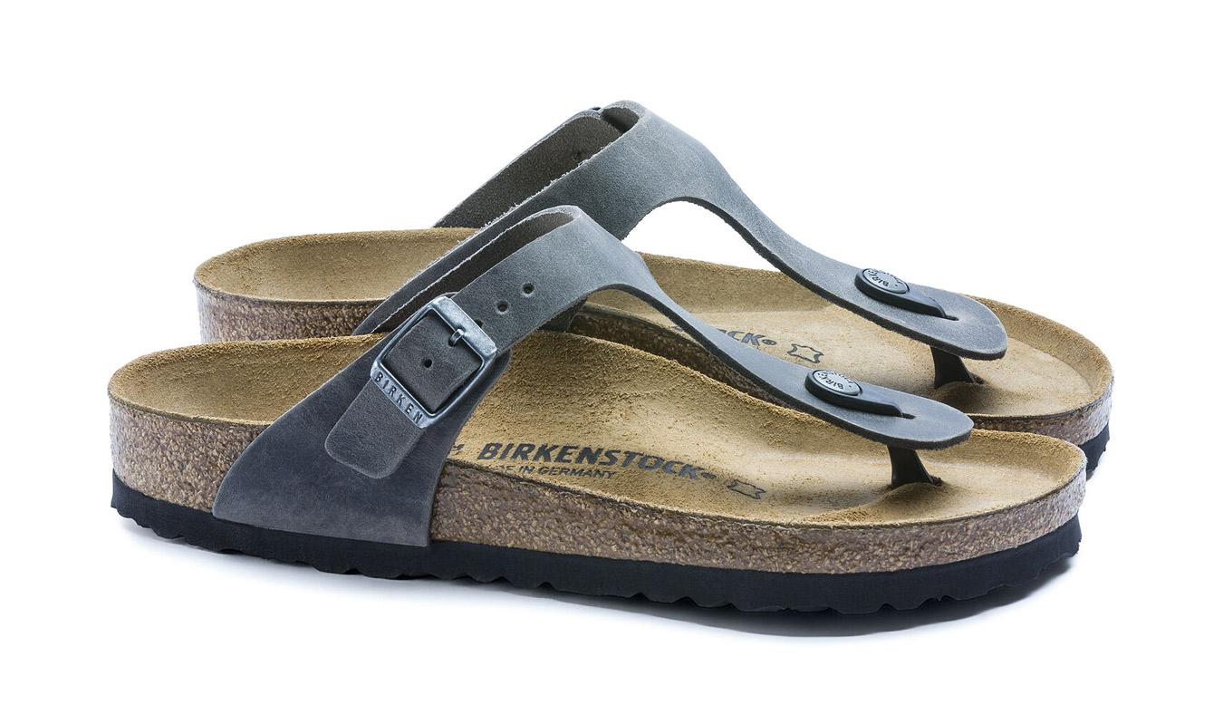 Birkenstock Gizeh BS Regular Iron šedé 1014272 - vyskúšajte osobne v obchode