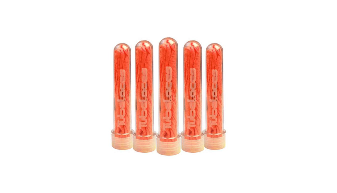 TUBELACES Silver Flat 120cm oranžové 10153_0228_2015 - vyskúšajte osobne v obchode