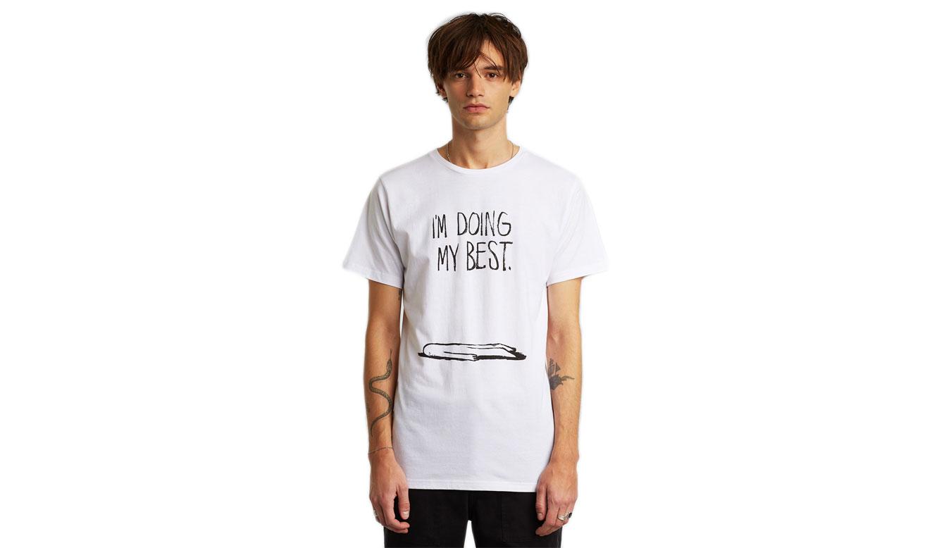 Dedicated T-shirt Stockholm Doing My Best White x CDR biele 16963 - vyskúšajte osobne v obchode