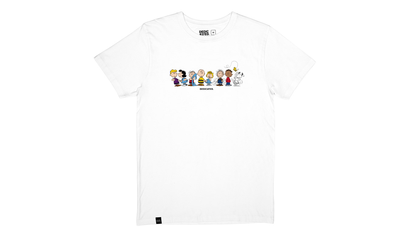 Dedicated T-shirt Stockholm Peanuts Crew White biele 18190 - vyskúšajte osobne v obchode