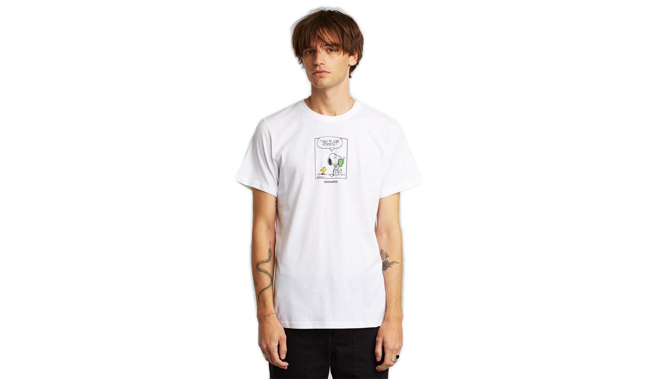 Dedicated T-shirt Stockholm Snoopy Stupidity White biele 18198 - vyskúšajte osobne v obchode