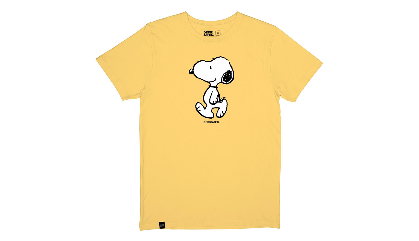 Dedicated T-shirt Stockholm Snoopy Yellow žlté 18779 - vyskúšajte osobne v obchode