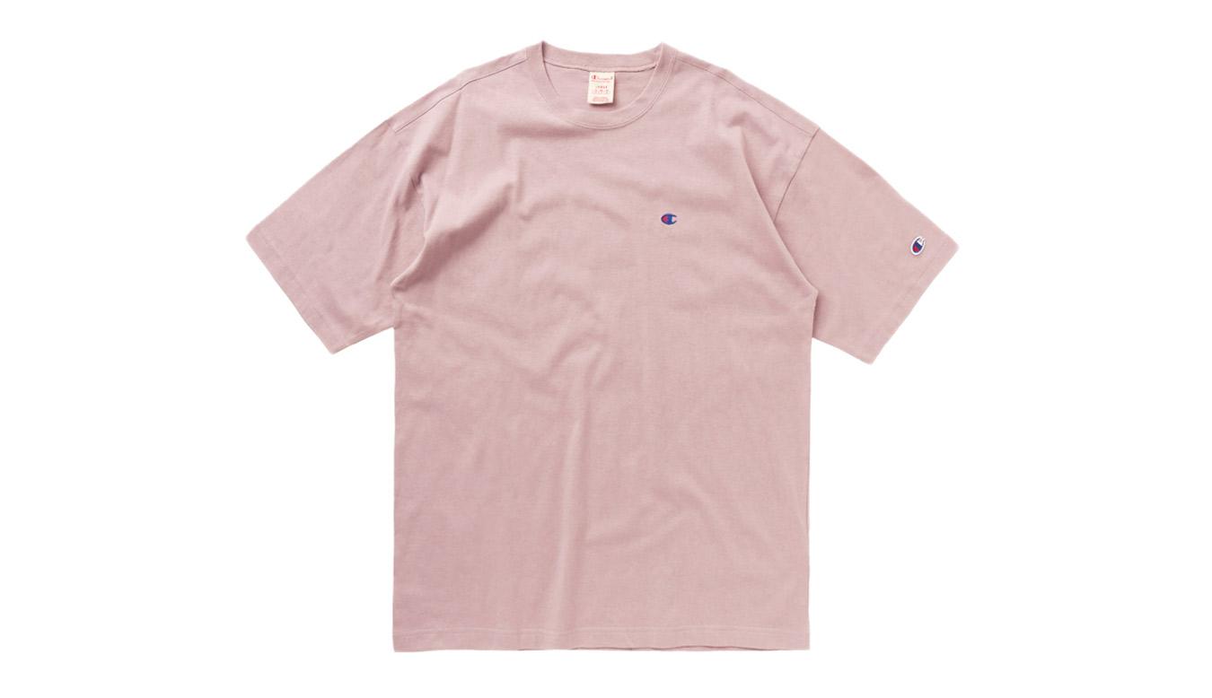Champion Crewneck T-Shirt ružové 215341-F20-PS007 - vyskúšajte osobne v obchode