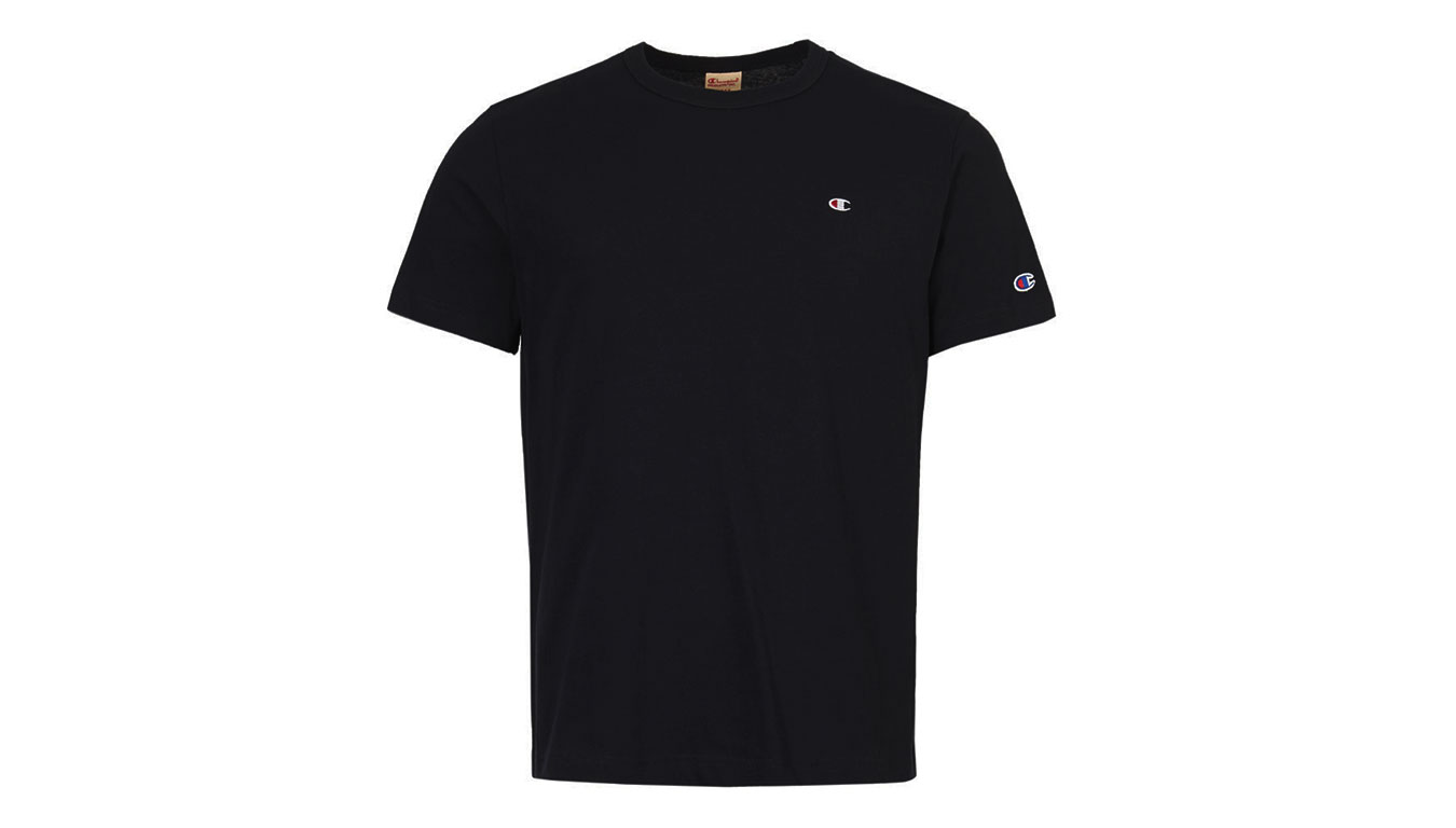 Champion Crewneck T-Shirt čierne 212974-KK001-NBK - vyskúšajte osobne v obchode