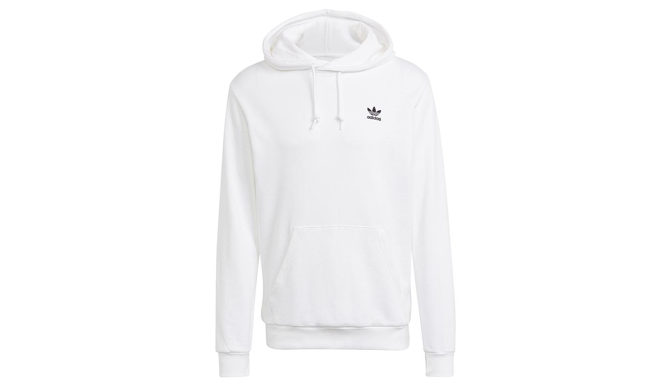 adidas Essential Hoody White/Black biele GP0931 - vyskúšajte osobne v obchode
