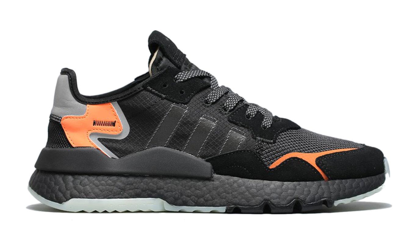 adidas Nite Jogger Core Black Carbon-11.5 čierne CG7088-11.5