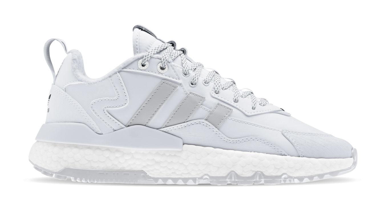 adidas Nite Jogger Winterized Crystal White/Ftwr White/Core Black biele FZ3660 - vyskúšajte osobne v obchode