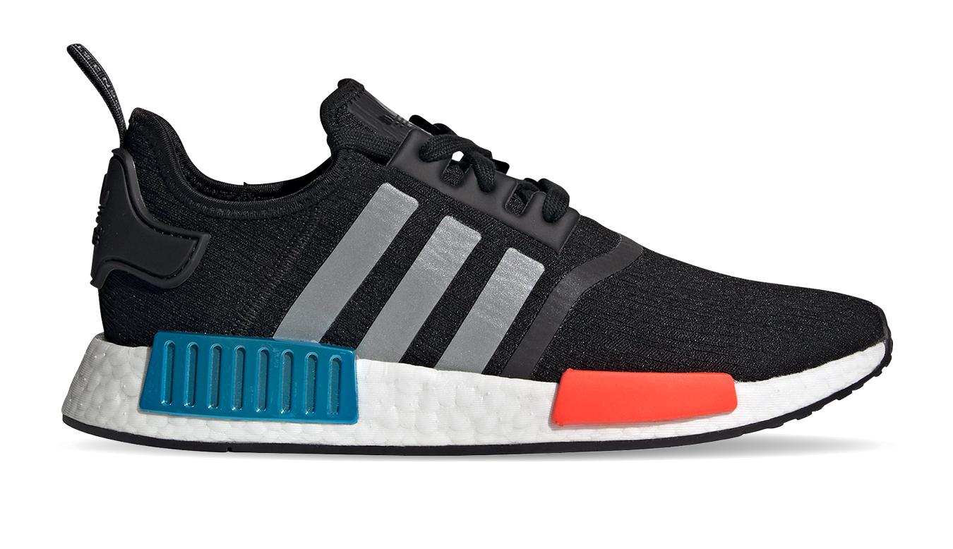 adidas Nmd_R1 Core Black/Silver Met./Solar Red čierne FY5727 - vyskúšajte osobne v obchode