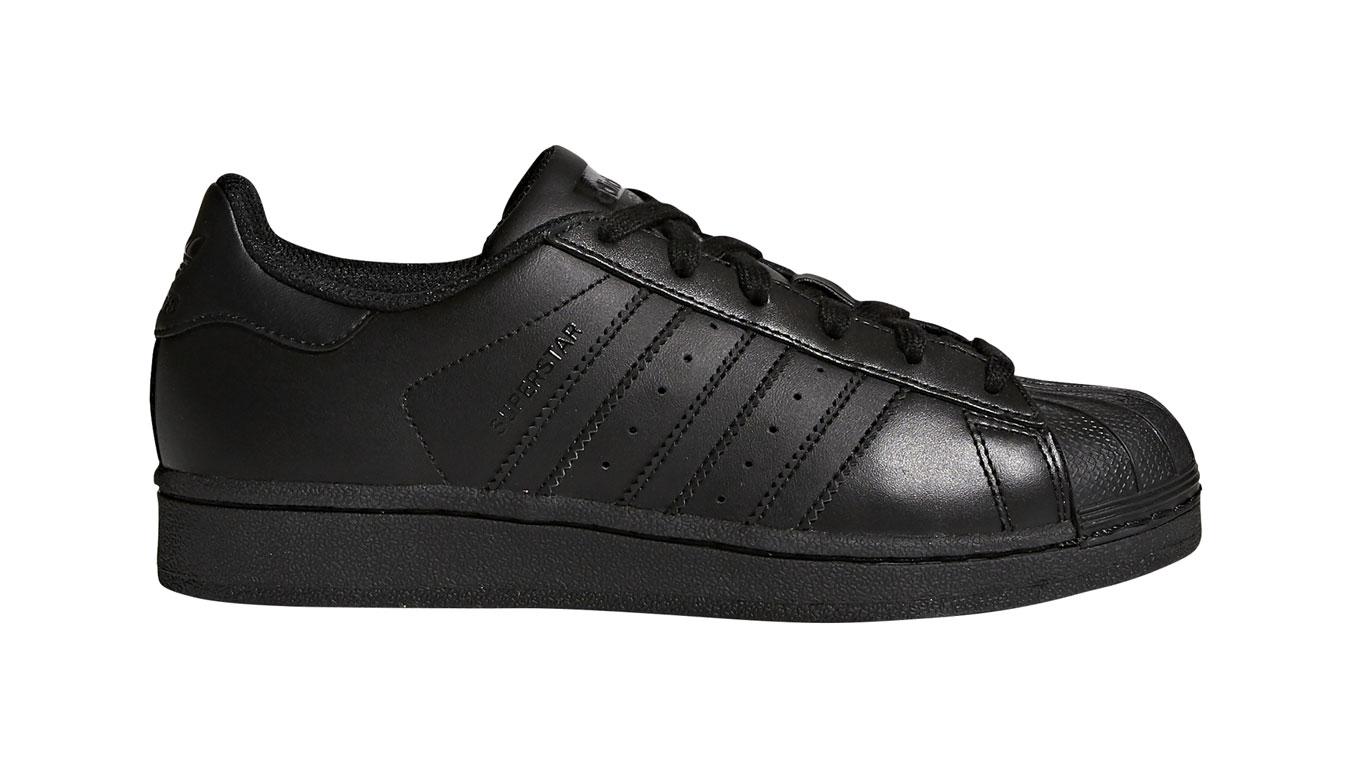 adidas Superstar J Core Black čierne B25724 - vyskúšajte osobne v obchode
