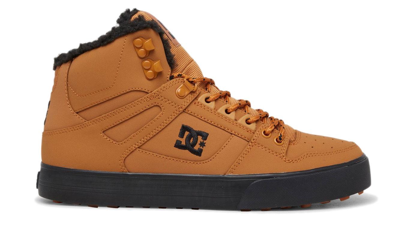 DC Shoes Pure High-Top Wc Wnt hnedé ADYS400047-WEA - vyskúšajte osobne v obchode
