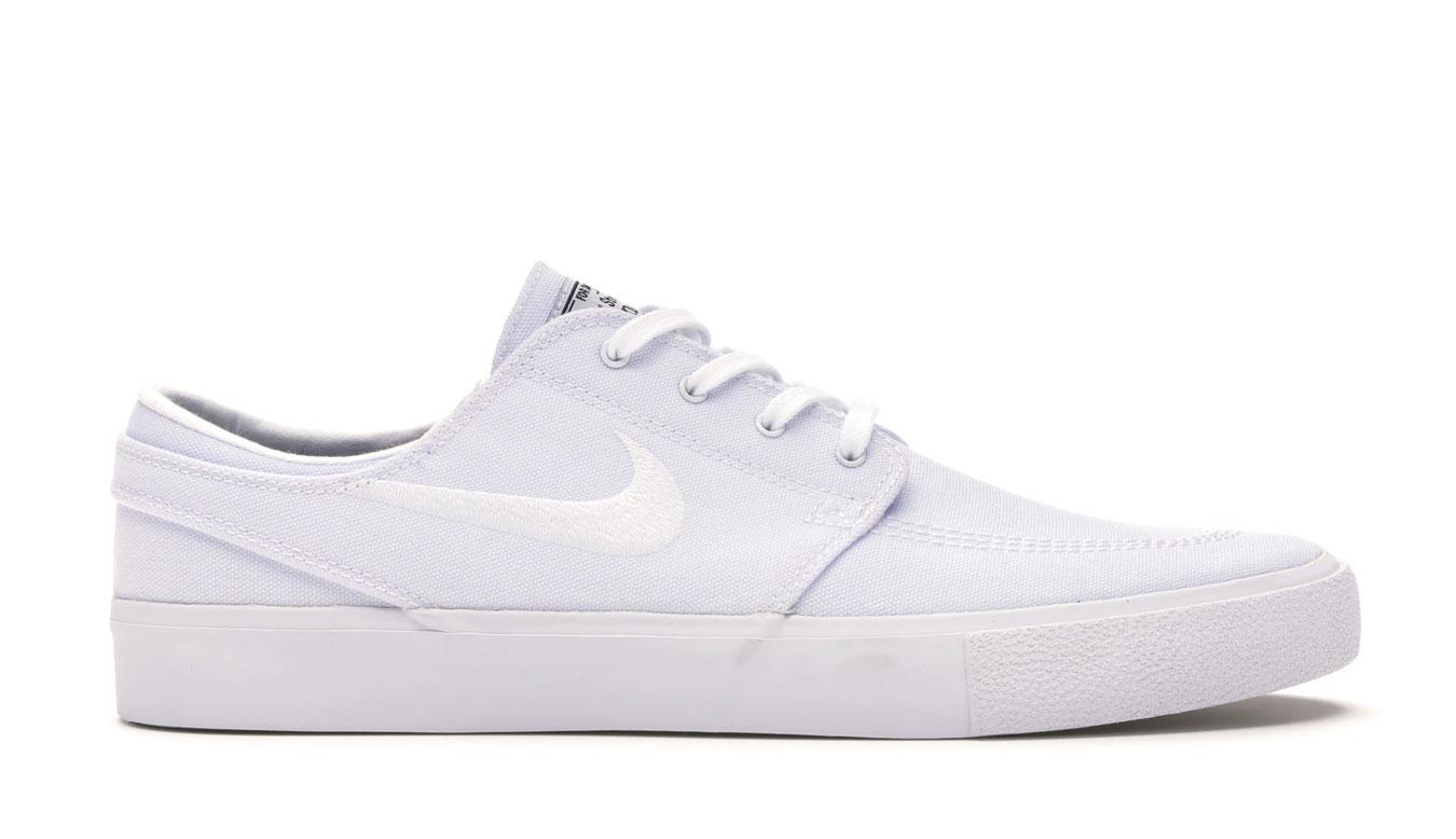 Nike SB Zoom Stefan Janoski Canvas biele AR7718-100 - vyskúšajte osobne v obchode