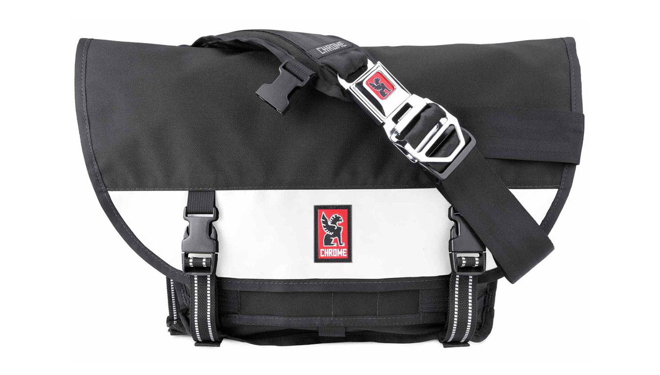 Chrome Mini Metro Messanger Bag Black White čierne BG-001-BKWT-101-NA