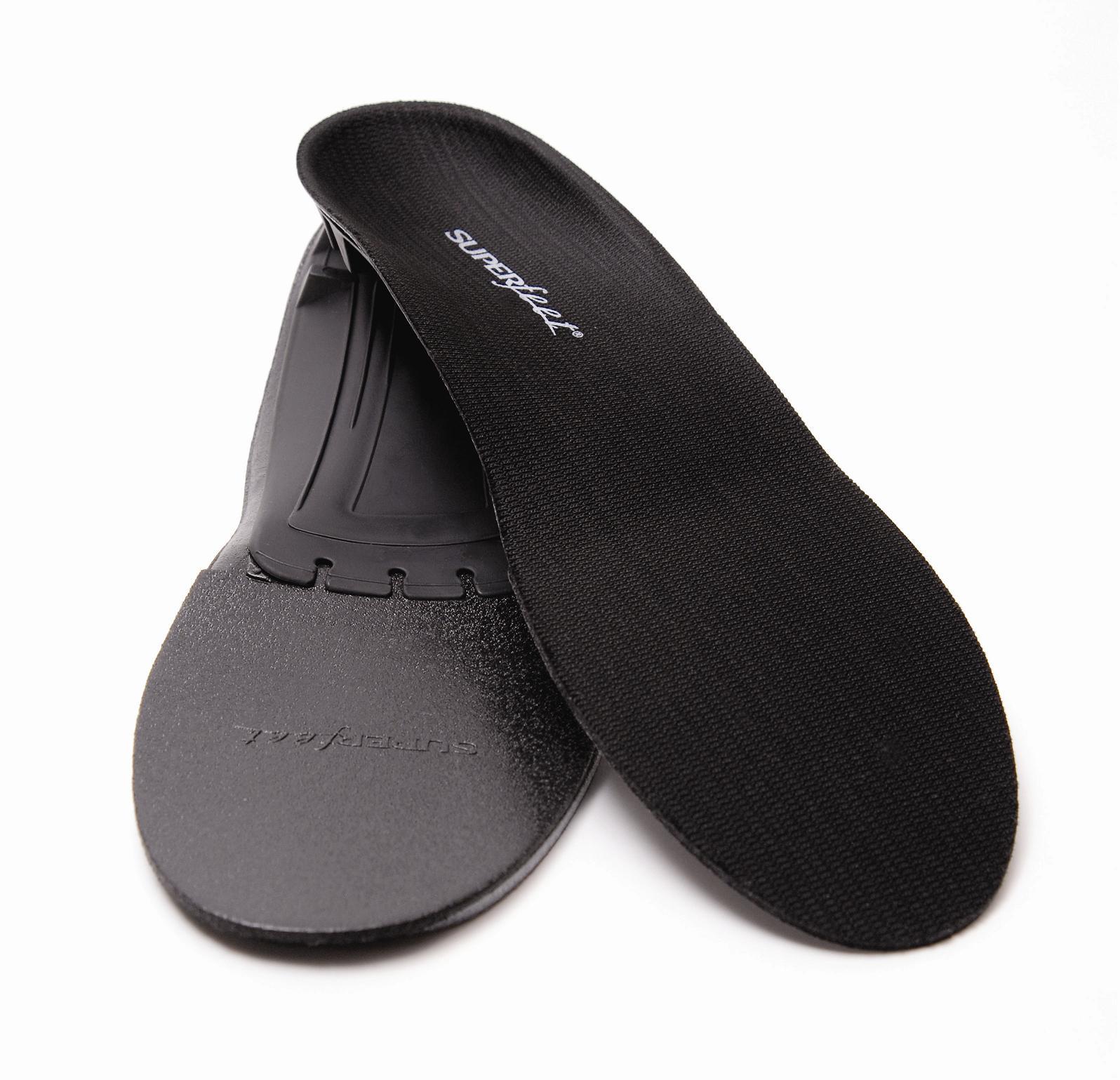 Vložky do topánok - Superfeet BLACK, beh, tretry a neformálna obuv