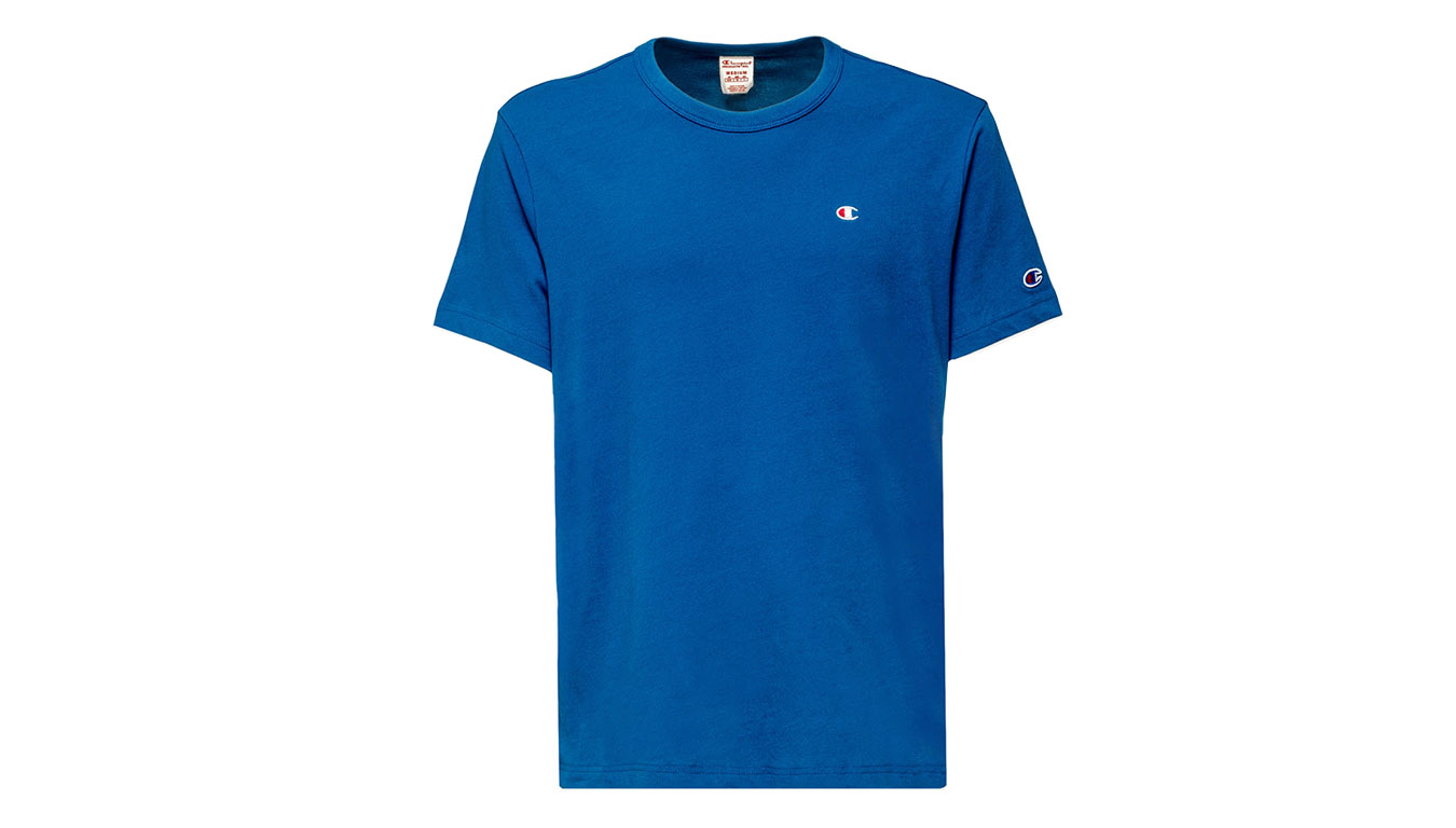 Champion Crewneck T-Shirt modré 212974-BS092-BSA - vyskúšajte osobne v obchode