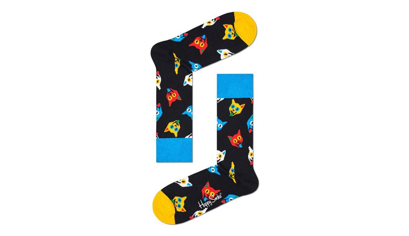 Happy Socks Cat Sock farebné CAT01-9300 - vyskúšajte osobne v obchode