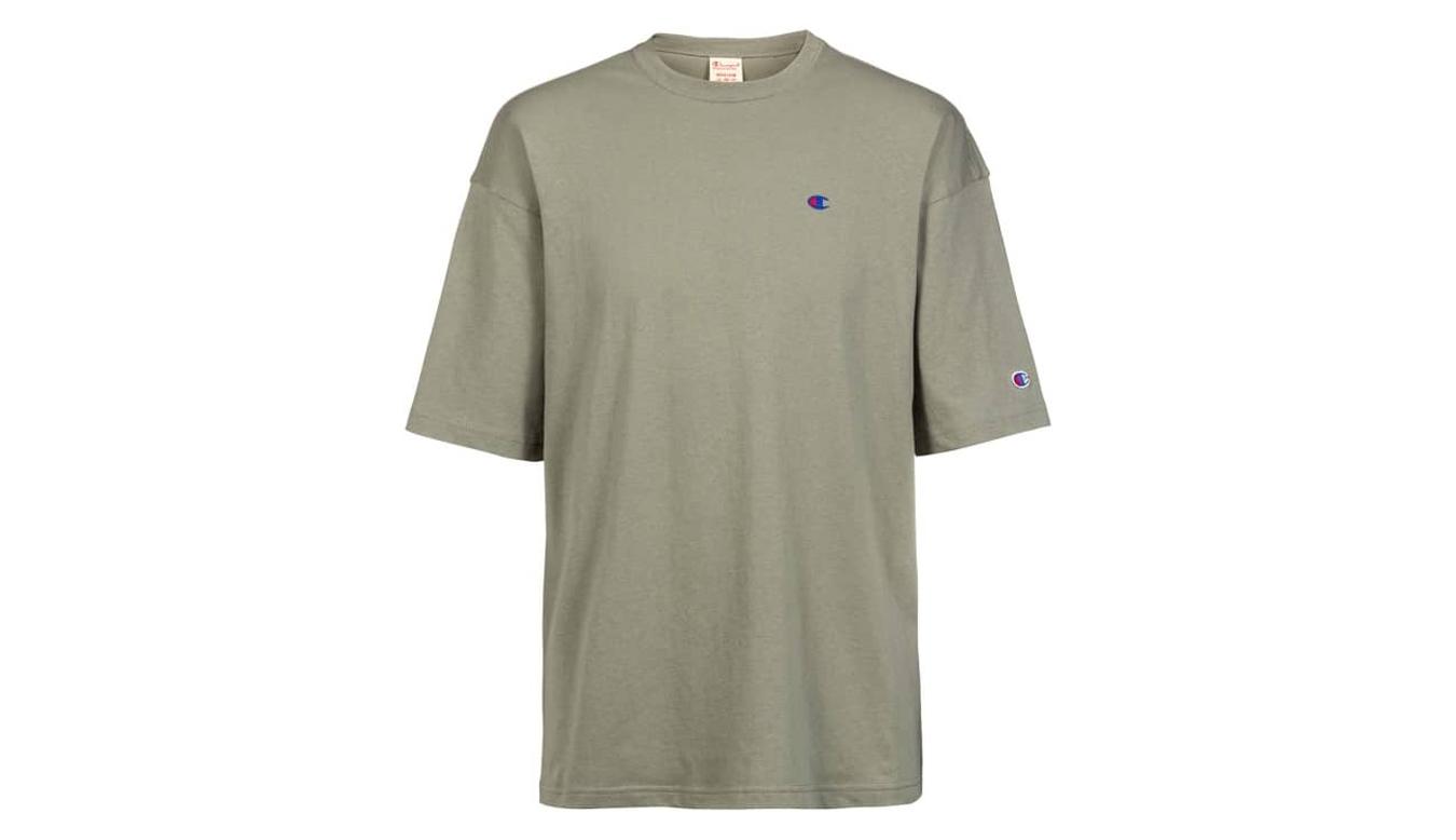 Champion Crewneck T-Shirt zelené 215341_F20_GS028 - vyskúšajte osobne v obchode