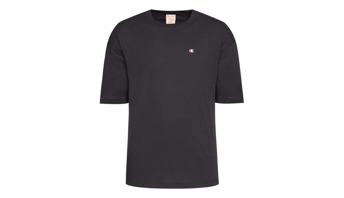 Champion Crewneck T-Shirt čierne 215341_F20_KK001 - vyskúšajte osobne v obchode