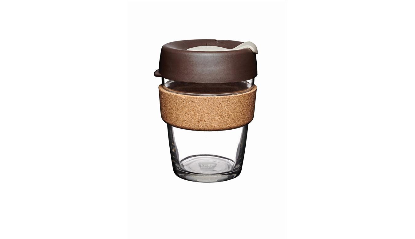 KeepCup Brew - Cork Edition Changemakers Almond 12oz hnedé BCALM12 - vyskúšajte osobne v obchode