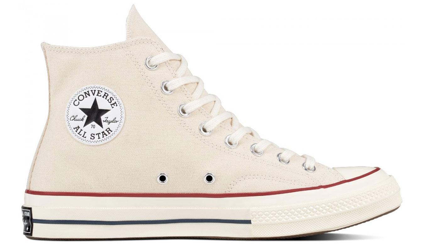 Converse Chuck Taylor All Star 70s Hi Top Parchment/Garnet/Egret biele 162053C - vyskúšajte osobne v obchode