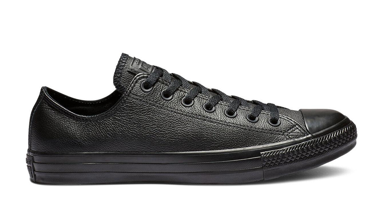 Converse Chuck Taylor All Star Mono Leather Black čierne 135253C - vyskúšajte osobne v obchode