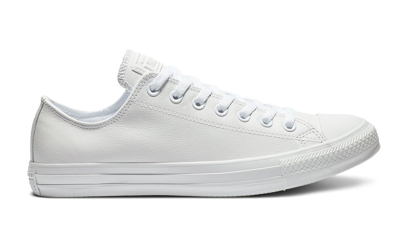 Converse Chuck Taylor All Star Mono Leather White biele 136823C - vyskúšajte osobne v obchode