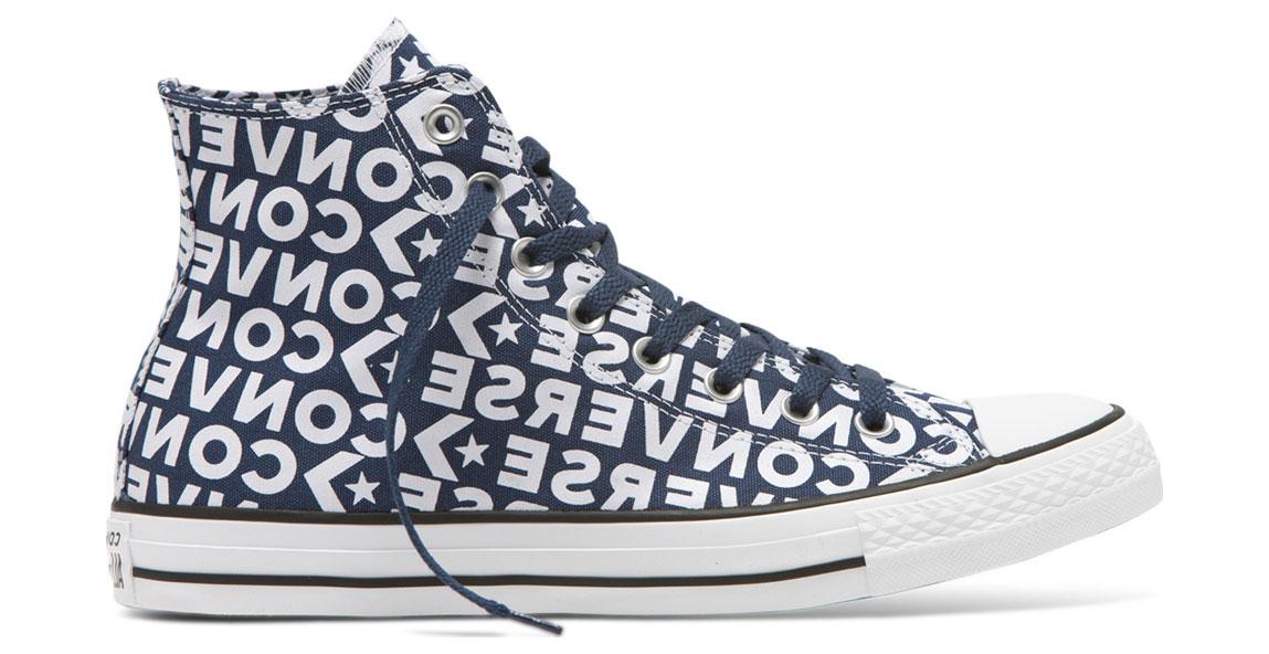 Converse Chuck Taylor All Star Wordmark 2.0 High Top modré 163952C - vyskúšajte osobne v obchode