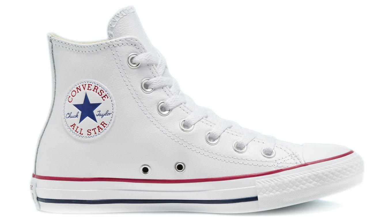 Converse Chuck Taylor Hi Leather White biele 132169C - vyskúšajte osobne v obchode