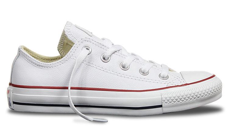 Converse Chuck Taylor Leather biele C132173 - vyskúšajte osobne v obchode