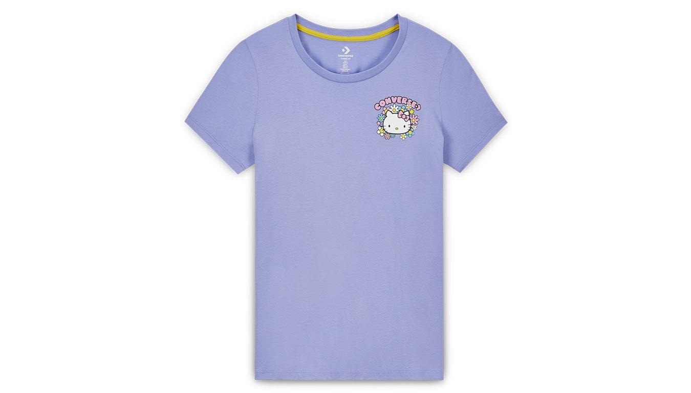 Converse Chuck Taylor Tee x Hello Kitty pack fialové 10017643-A01 - vyskúšajte osobne v obchode