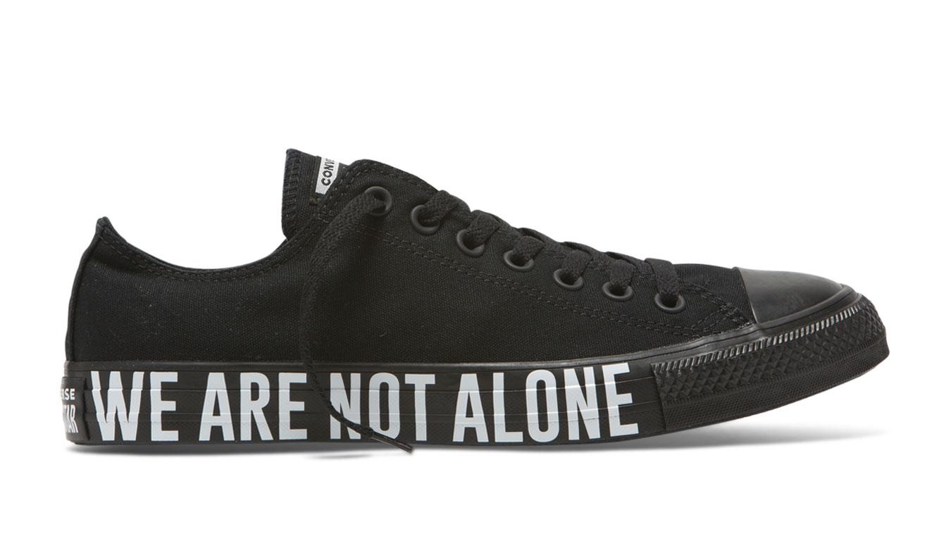Converse CTAS OX We Are Not Alone Low Top Black čierne 165382C - vyskúšajte osobne v obchode
