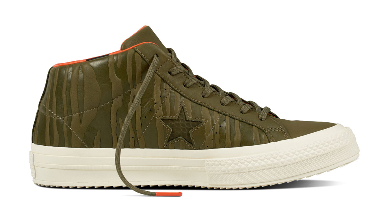 Converse One Star Mid Water Resistant High Tops zelené 158836C