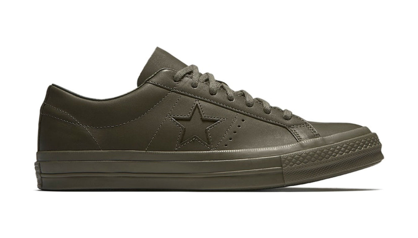 Converse One Star x Engineered Garments Leather  zelené 160281C