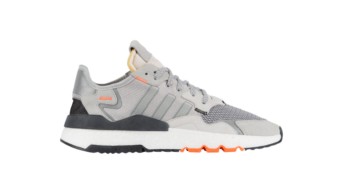 1d68ba4cad adidas Nite Jogger Grey White Orange