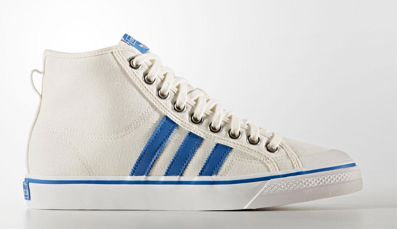 04de50c5d44fa Biele tenisky adidas Nizza Hi - 45€ | BZ0543 | Shooos