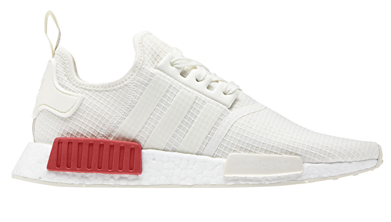 best sneakers 89b2d d7cdf adidas NMD R1 White Lush Red