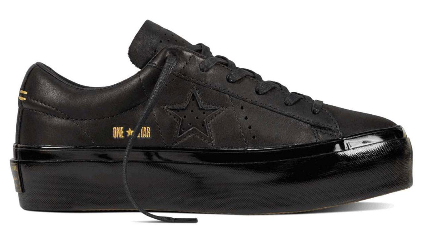 d21c1e914 čierne tenisky Converse One Star Platform - 66€ | 559898C | Shooos