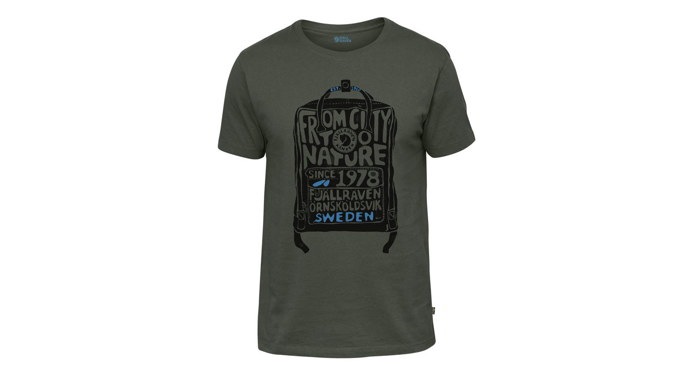 40b81e277 šedé trička Fjällräven Kånken T-Shirt Deep Forest - 32€ | 81941-662 ...