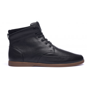 Clae Hamilton Black Milled Tumbled Leather