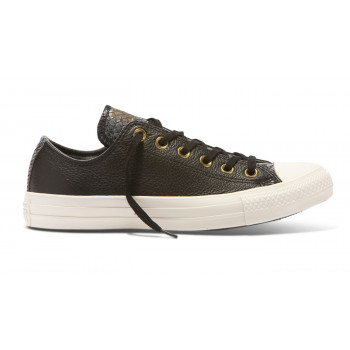 Converse Chuck Taylor All Star Leather Gator Low Top Black