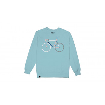 Dedicated Sweatshirt Malmoe Color Bike Embroidery Beach Blue
