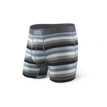 Saxx Ultra Boxer Dark Charcoal Stripe