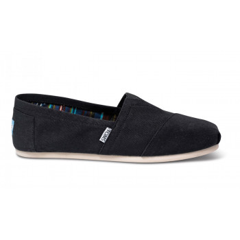 TOMS Black Canvas Alpargatas