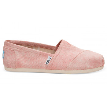 TOMS Coral Washed Twill Alpargata