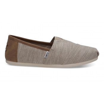 TOMS Oxford Tan Chambray Trim Alpargatas